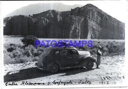 118436 ARGENTINA SALTA CAFAYATE AUTOMOBILE OLD CAR AND MAN 1942 13 X 9 CM PHOTO NO POSTAL POSTCARD - Fotografie