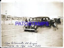 118437 ARGENTINA SAN CLEMENTE DEL TUYU PLAYA BEACH MILL MOLINO AUTOMOBILE CAR AÑO 1933 11.5 X 8.5 PHOTO NO POSTCARD - Fotografie