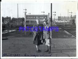 118439 ARGENTINA BAHIA BLANCA BUENOS AIRES STATION TRAIN ESTACION TREN ANDEN 1950 11.5 X 9 CM PHOTO NO POSTAL POSTCARD - Fotografie