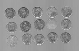 SUISSE LOT DE 15 PIECES DE 1/2 FRANCS (VOIR ANNéES) - Zwitserland