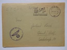 """1942 DR Brief Feldpost Freistempel """"Kampf Dem Kartoffelkäfer!"""" - Briefe U. Dokumente"""