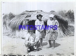 118441 ARGENTINA CHACO COSTUMES WOMAN'S AND MAN AÑO 1949 11.5 X 8.5 PHOTO NO POSTCARD - Fotografie
