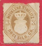Mecklembourg-Sterliz N°6 3s Bistre 1864 (*) - Mecklenburg-Strelitz
