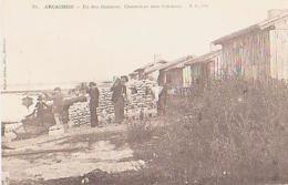 Gironde        918        Arcachon.Ile Des Oiseaux.Chasseurs Aux Cabanes - Arcachon