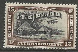 Belgian Congo - 1930 Airmail Kraal MH *    Sc C5 - Belgian Congo