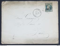 1869 Cover And Lettre, Limoges - Bordeaux A Paris France, Republique Française, Used - 1863-1870 Napoléon III. Laure