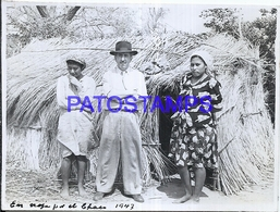 118443 ARGENTINA CHACO COSTUMES WOMAN'S AND MAN AÑO 1947 11.5 X 8.5 PHOTO NO POSTCARD - Photographie