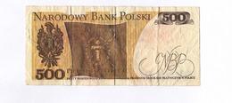 De 37 Ans : Un Billet De Pologne, 500 Zlotych, De 1982. - Polen