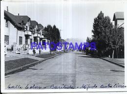 118446 ARGENTINA BARILOCHE CENTRO CIVICO CALLE COLON 12 X 8.5 PHOTO NO POSTCARD - Fotografie
