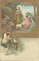 """Cartolina """"Buon Natale"""", Presepe Con Sacra Famiglia, Bue E Asino, E Zampognari (S22) - Altri"""