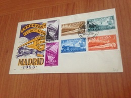 LETTRE -  Congresso Internacional De Ferrocarrile -  MADRID 1958-  ( Port à Ma Charge ) - 1951-60 Briefe U. Dokumente