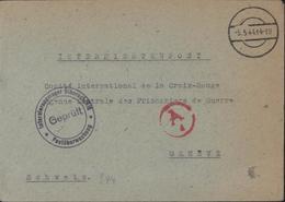 Gepruft Internierungsiager Biberach Rib? Postüberwachung CAD Muet 5 5 44  14-19 Censure Civile Ad Munich Camp Liebenau - Briefe U. Dokumente