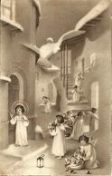 """Cartolina """"Buon Natale"""", Gesù Bambino E Angioletti Con I Regali (S25) - Altri"""