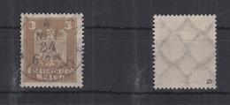 Deutsches Reich 355X B Gestempelt Signiert #RR226 - Dienstpost