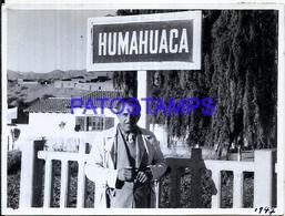 118447 ARGENTINA JUJUY HUMAHUACA STATION TRAIN ESTACION DE TREN 11.5 X 8.5 PHOTO NO POSTCARD - Fotografie