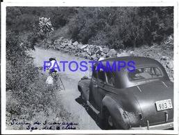 118449 ARGENTINA SANTIAGO DE ESTERO AUTOMOBILE OLD CAR AND MAN'S 11.5 X 8.5 CM PHOTO NO POSTAL POSTCARD - Fotografie