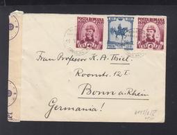 Romania Cover 1940 Bucuresti To Bonn Censor - Storia Postale Seconda Guerra Mondiale