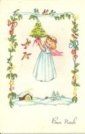 """Cartolina """"Buon Natale"""", Angioletto Che Sorregge Albero Di Natale (S31) - Altri"""