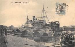 BÂTEAU-A SAIGON- LES QUAIS - Barche