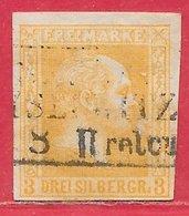Prusse N°13 3S Jaune-orange 1858 O - Prusse