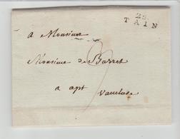 DROME 25 / TAIN Linéaire De 21 M/m + TM 3 / LAC De 1803 > Apt TTB - Marcophilie (Lettres)