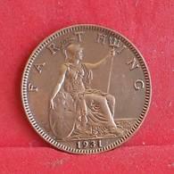 GREAT BRITAIN 1 FARTHING 1931 -    KM# 825 - (Nº30384) - 1902-1971 : Monete Post-Vittoriane