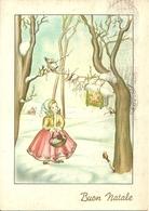 """Cartolina """"Buon Natale"""", Gesù Bambino In Una Casetta Appesa All'Albero E Bambina (S35) - Altri"""