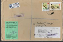 MAN   Lettre  Recommandée 1975 Oiseaux Tableaux Port - Sonstige