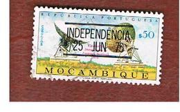 MOZAMBICO (MOZAMBIQUE)   - SG 633 -  1975 RADIO TELESCOPE (OVERPRINTED INDEPENDENCE) -  USED - Mozambico