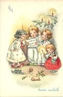 """Cartolina """"Buon Natale"""", Bambini Che Cantano (S39) - Altri"""