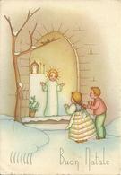 """Cartolina """"Buon Natale"""", Bambini Che Pregano Gesù Bambino (S40) - Altri"""