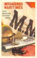 Cie DES MESSAGERIES MARITIMES -INDE INDOCHINE EXTREME-ORIENT - Barche