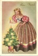 """Cartolina """"Buon Natale"""", Ragazza Che Accende Le Cabdeline Dell'Albero (S41) - Altri"""