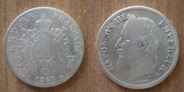 France 2 Francs 1868 Argent Silver Coin Napoleon 3 Empereur Que Prix + Port Roi Cent Paypal Bitcoin OK - I. 2 Francs
