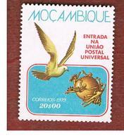 MOZAMBICO (MOZAMBIQUE)   - SG 735   -  1979 U.P.U. MEMBERSHIP: DOVE  -  UNUSED WITHOUT GUM - Mozambico