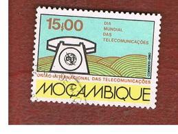 MOZAMBICO (MOZAMBIQUE)   - SG   817  -  1980 WORLD TELECOMMUNICATION DAY: TELEPHONE -  USED - Mozambico