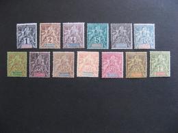 Etabl. De L'OCEANIE: TB Série  N° 1 Au N° 13 , Neufs X Sauf N°8 Oblitéré. - Oceanía (1892-1958)