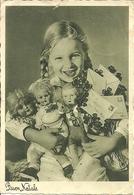 """Cartolina """"Buon Natale"""", Bambina Con Bambole E Letterine (S44) - Altri"""