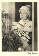 """Cartolina """"Buon Natale"""", Bambina Con In Braccio I Regali (S45) - Altri"""