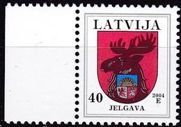 Lettland, 2004, 498 C II, Freimarken: Wappen. Jelgava (Mitau), MNH ** - Lettland