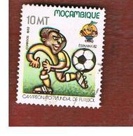 MOZAMBICO (MOZAMBIQUE)   - SG   949  -  1982 WORLD CUP FOOTBALL -  USED - Mozambico