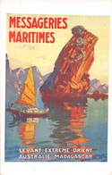Cie DES MESSAGERIES MARITIMES -LEVANT EXTERME-ORIENT- AUSTRALIE- MADAGASCAR - Barche