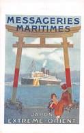 Cie DES MESSAGERIES MARITIMES -JAPON- EXTERME-ORIENT- - Barche