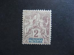 Etabl. De L'OCEANIE:  TB N° 2, Neuf XX. - Oceanía (1892-1958)
