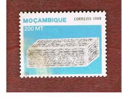 MOZAMBICO (MOZAMBIQUE)   - SG   1244  -  1989  SILVER FILIGREE WORK: CASKET  -  USED - Mozambico