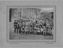Carte Photo De Classe Primaire MONTELIARD 1933 - Fotografie