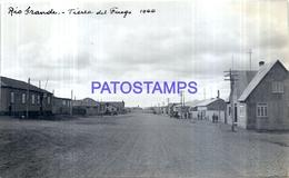 118468 ARGENTINA TIERRA DEL FUEGO RIO GRANDE VISTA DE LA CALLE AÑO 1944 16 X 10 CM PHOTO NO POSTAL POSTCARD - Fotografie