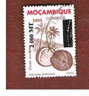 MOZAMBICO (MOZAMBIQUE)   - MI 1554 -  2000 COCONUT (OVERPRINTED)   -  USED - Mozambico