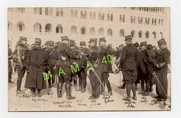 CARTE PHOTO - TUNISIE - Pierre LAURENT - BIZERTE - MILITARIA - GROUPE D'OFFICIERS - CAPITAINES LIEUTENANT IDENTIFIES - Personnages