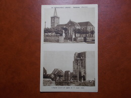 Carte Postale  - GATHEMO (50) - L'Eglise Avant Et Après Le 11 Août 1944 (3308) - France